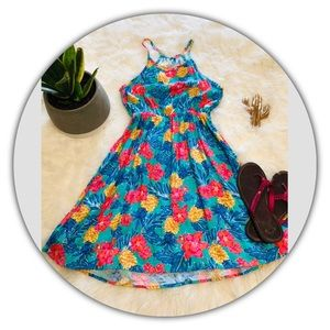Roxy Girl Tropical Print Dress